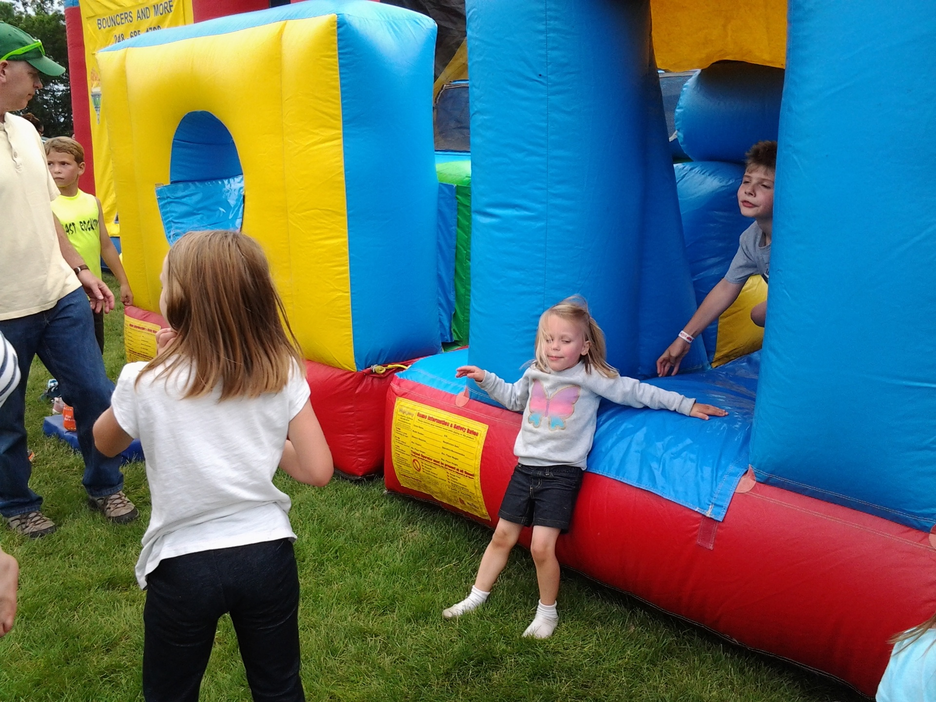 Inflatables provided fun for the kids.